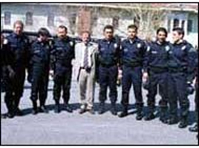 Erman Hoca ve futbolcular polis oldu